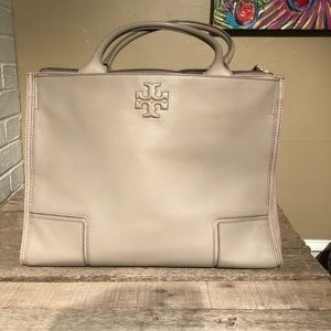 Tory Burch French Gray leather Ella Tote